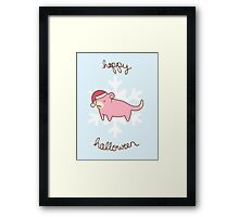 Slowpoke Christmas Framed Print
