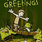 Training We Are - Seasons Greetings card by DJKopet