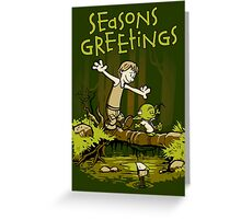 Training We Are - Seasons Greetings card Greeting Card