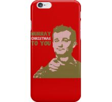 Murray Christmas to you sweater iPhone Case/Skin