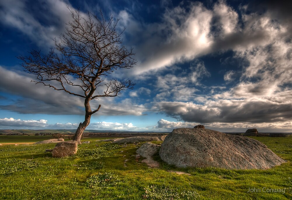 Cloudy Afternoon at Dog Rocks by John Conway