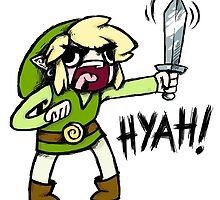 Toon Link- HYAH! by warriordork