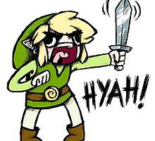 Toon Link- HYAH! by warriordork
