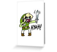 Toon Link- HYAH! Greeting Card