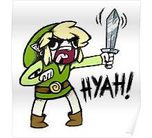 Toon Link- HYAH! Poster