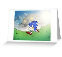 CLASSIC SONIC v DEATHEGG (Retro Design) Greeting Card