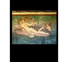 Naked Woman, Venus on Clamshell, Fresco, Pompeii Photographic Print