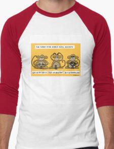 the three wise middle aged monkeys Men's Baseball ¾ T-Shirt