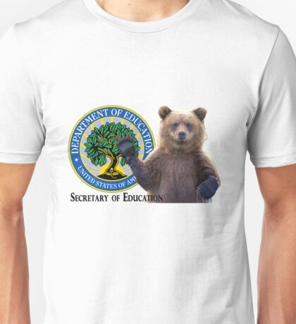 Secretary of Education: Grizzly Bear Unisex T-Shirt