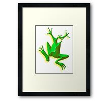 GREEN FROG, Jumping Jehoshaphat! Help! its the Green frog! Framed Print