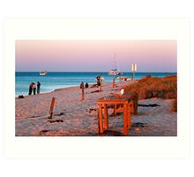 Monkey Mia Beach At Sunset  Art Print