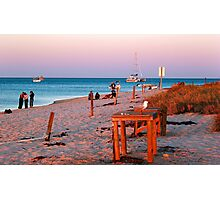 Monkey Mia Beach At Sunset  Photographic Print