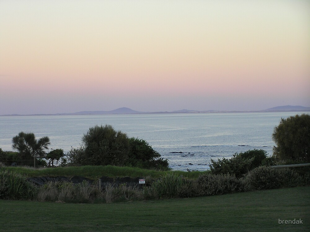 Sunset over Bear Gully, Walkerville, Victoria, Australia by brendak