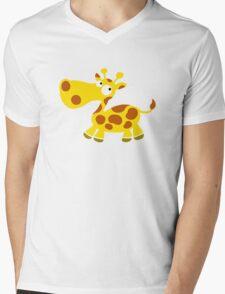 Little Giraffe Mens V-Neck T-Shirt