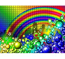 Rainbow Splash City  Photographic Print