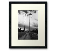 Powerlines Track Framed Print