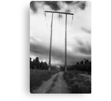 Powerlines Track Canvas Print
