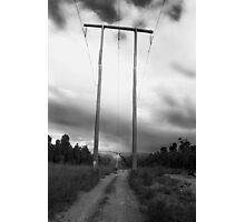 Powerlines Track Photographic Print