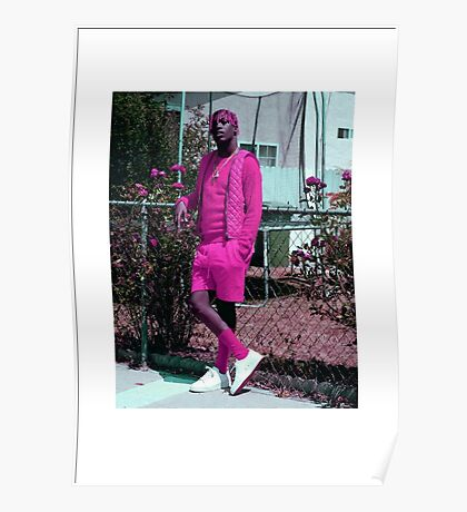 Lil Yachty in all pink  Poster