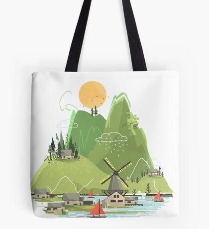 Glitchscape Tote Bag