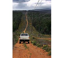 Driving The Powerlines Track Photographic Print