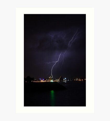 Lightning Strike Art Print