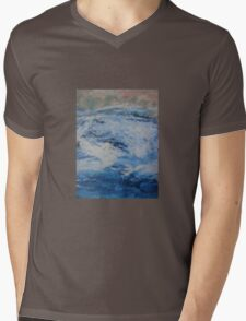 Blue Fury Mens V-Neck T-Shirt