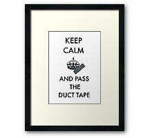 Keep Calm - duct tape Framed Print