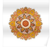 Ornamental round lace pattern.Delicate circle. Poster