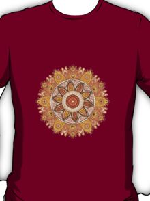 Ornamental round lace pattern.Delicate circle. T-Shirt