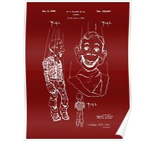 Howdy Doody Style Puppet Patent Poster