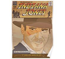 Indiana Jones Comic Style Poster Poster