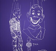 Howdy Doody Style Puppet Patent Image by Barry  Jones