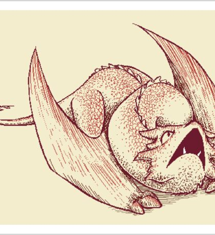 Little Smaug - Dragon on paper Sticker