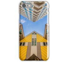 Yellow cubic houses in Rotterdam iPhone Case/Skin