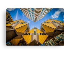 Yellow cubic houses in Rotterdam Canvas Print