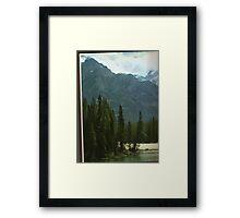 alberta mountain peaks Framed Print