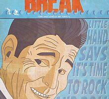 Point Break Comic Style Poster by Shaun Baker