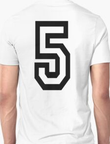 5, TEAM SPORTS, NUMBER 5, FIFTH, FIVE, Competition,  T-Shirt