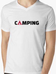 Camping tent Mens V-Neck T-Shirt