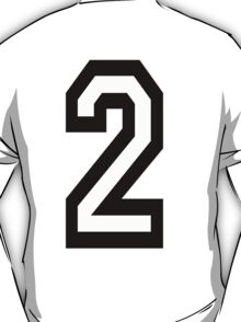 TEAM SPORTS, NUMBER 2, TWO, 2, SECOND, Competition T-Shirt