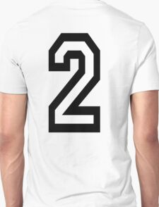 2, TEAM SPORTS, NUMBER 2, TWO, SECOND, Twice, Duo, Couple, Competition T-Shirt