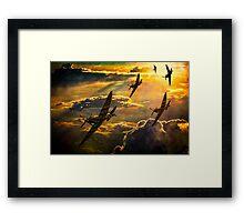 Spitfire Attack Framed Print