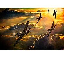 Spitfire Attack Photographic Print