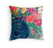 Romance Flowers Artist Designed Decor & Gifts Throw Pillow