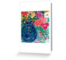 Romance Flowers Artist Designed Decor & Gifts Greeting Card