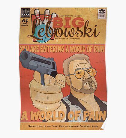 The Big Lebowski Comic Style Poster Poster