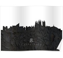 The Skyline of Canterbury Poster