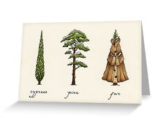 Fur Tree Greeting Card