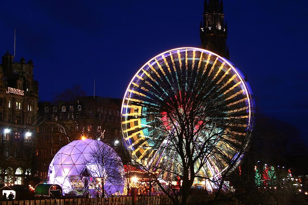 Christmas in Edinburgh Princes Street by Chris Clark